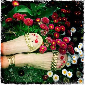 les paresseuses sandales 01platine