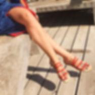sandales les paresseuses modèle 05 corail