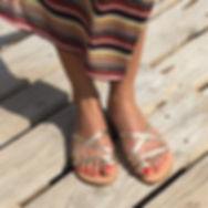 sandales les paresseuses modèle 01 platine