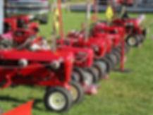 Wheel Horse tractor display at the Centerburg Oldtime Farming Festival, Centerburg, Ohio