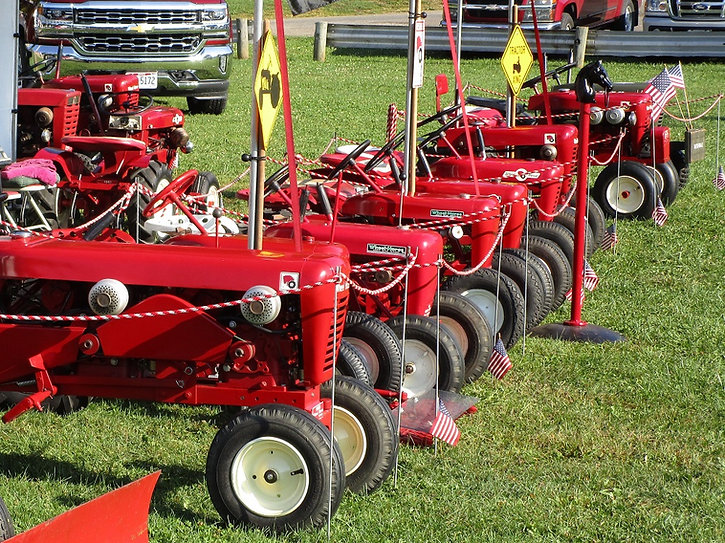 Wheel Horse tractor display at the Centerburg Oldtime Farming Festival, Centerburg, Ohio