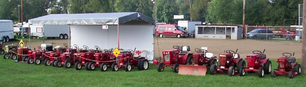Antique Wheel Horse display at the Centerburg Oldtime Farming Festival, Centerburg, Ohio