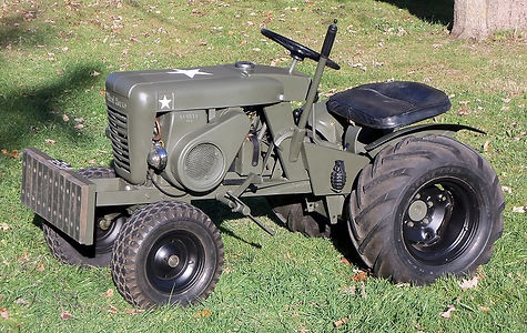 "Custom Built 1962 Wheel Horse Model 762 ""Army Horse"""