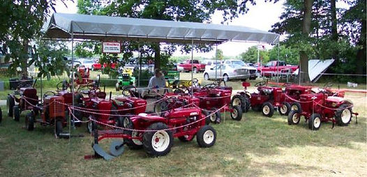 Vintage Wheel Horse display at Plain City, Ohio