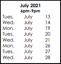 Courses & July 13, 2021 Exam Preparation