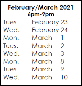Courses & February 23, 2021 Exam Preparation