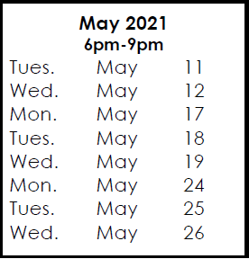 May 11, 2021 Exam Preparation & Courses