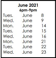 Courses & June 8, 2021 Exam Preparation