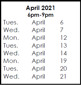 Courses & April 6, 2021 Exam Preparation