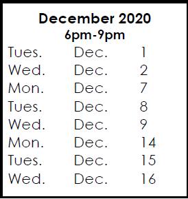 December 1, 2020 Exam Preparation & 3 Courses