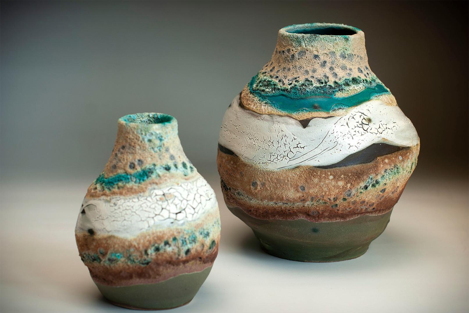 Ocean Bottle vases