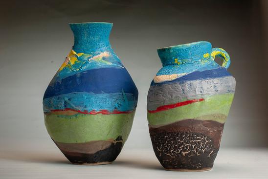 Landscape pot & Jug