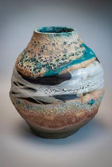 Rounded Ocean Vase