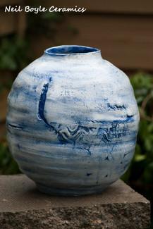 Cobalt blue Water Vase