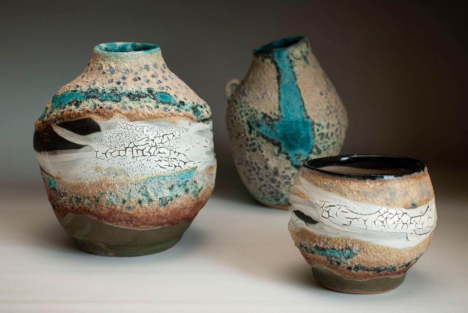 Ocean Vase, Bowl & Jug