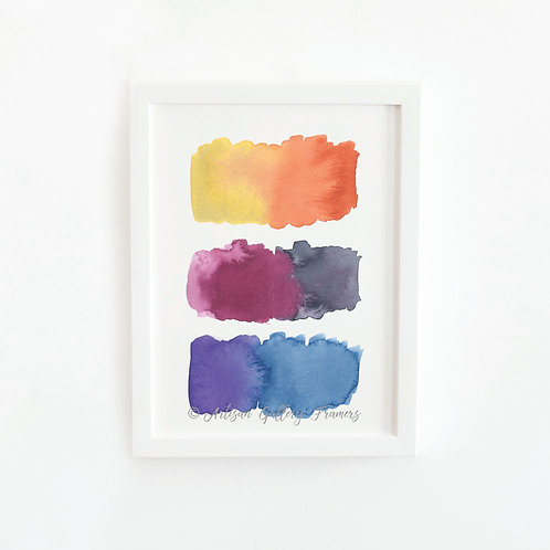Watercolor Swatches #7
