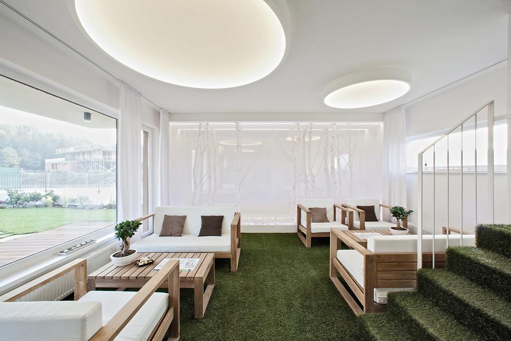 osvetlenie kancelárie kruhové svietidlo svetelné stropy