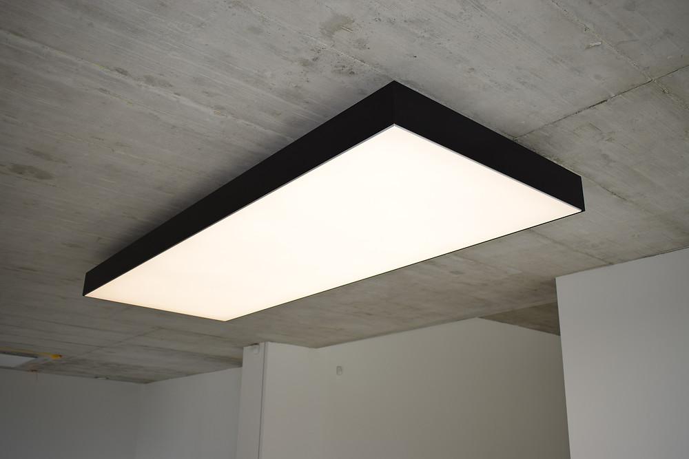 dekór dizajnového LED svietidla na mieru svetelné stropy