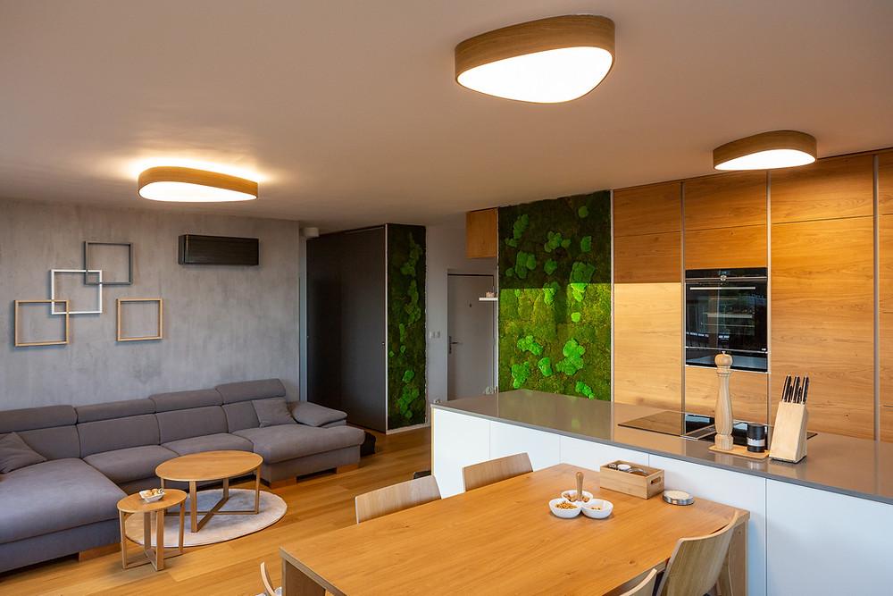 osvetlenie obývačky a kuchyne na mieru svetelné stropy