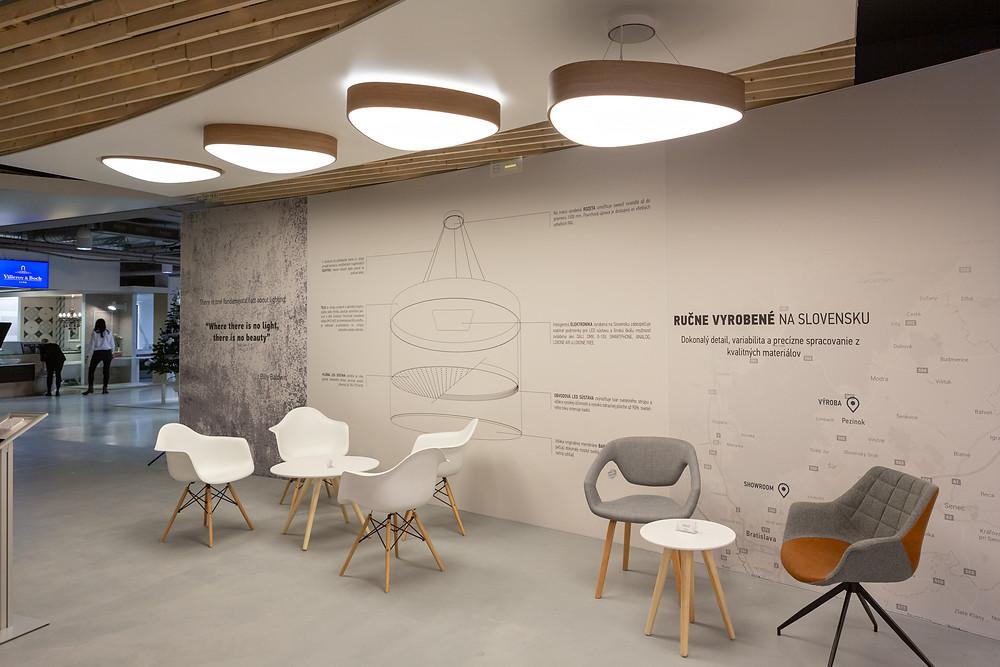 dizajnové drevené LED svietidlo svetelné stropy