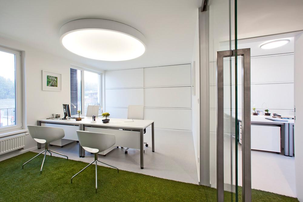 osvetlenie pracovne kruhové LED svietidlo svetelné stropy