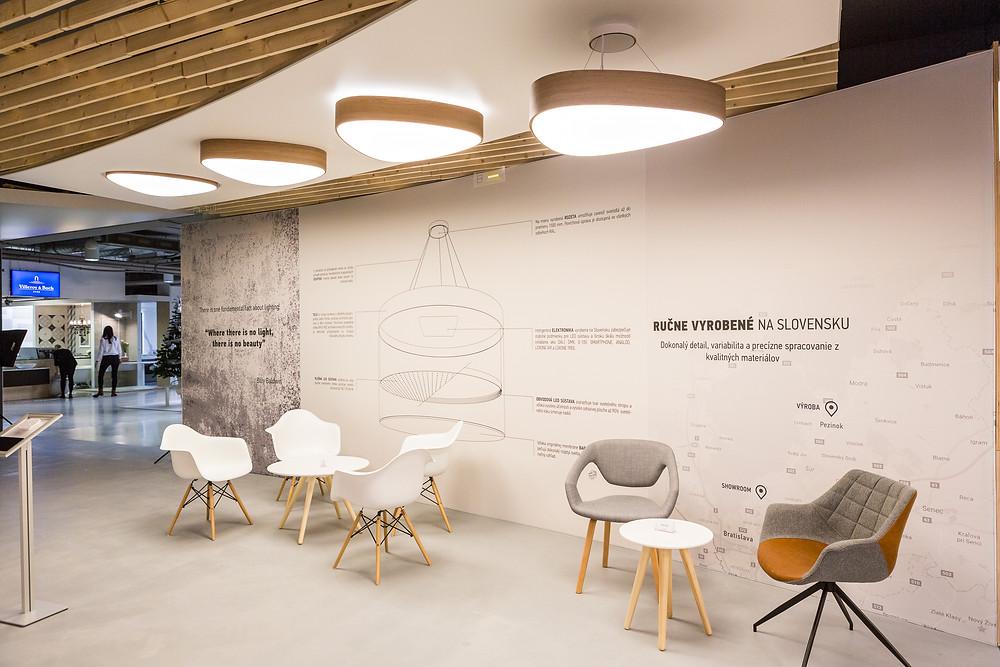 LED dizajnové drevené svietidlo svetelné stropy