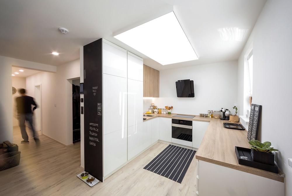 osvetlenie kuchyne zapustené LED svetelné stropy