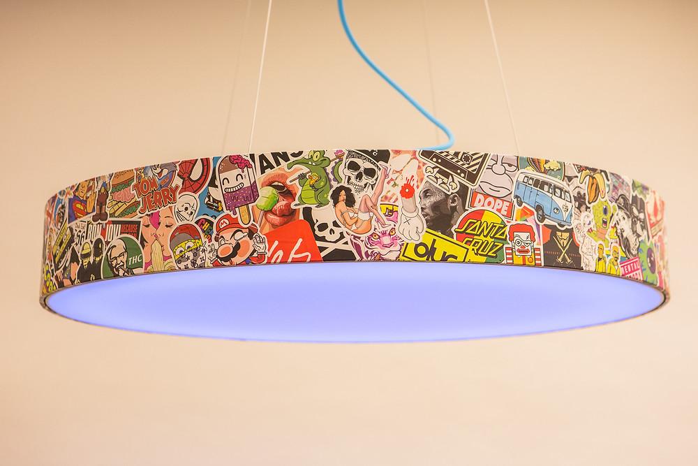 nálepkový dekór LED svietidla na mieru svetelné stropy