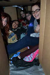 girls in box sleepout.JPG