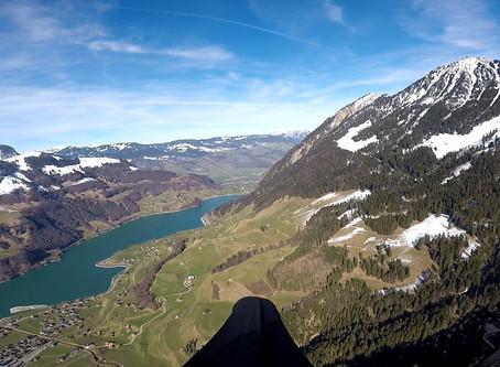 2021-02-12 Kleiner Streckenflug – Planplatte richtung Sachseln