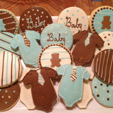 Baby Blue  & Brown Theme Baby Shower
