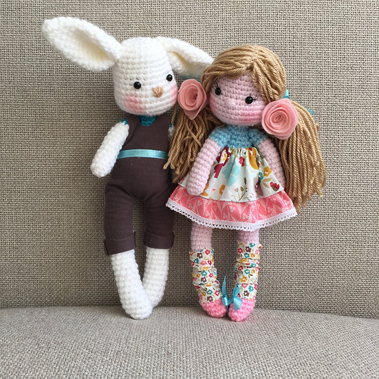 Doll and bunny pattern