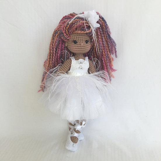 white couture doll