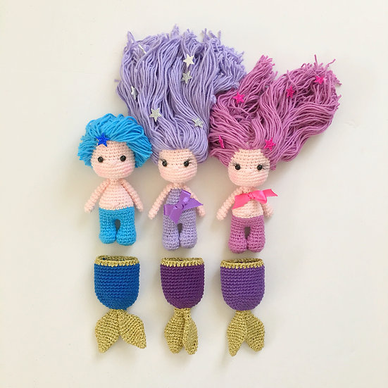 Rainbow baby mermaid set
