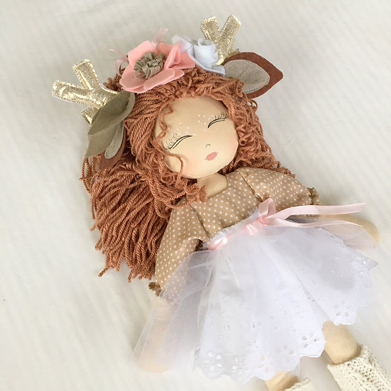 white deer doll