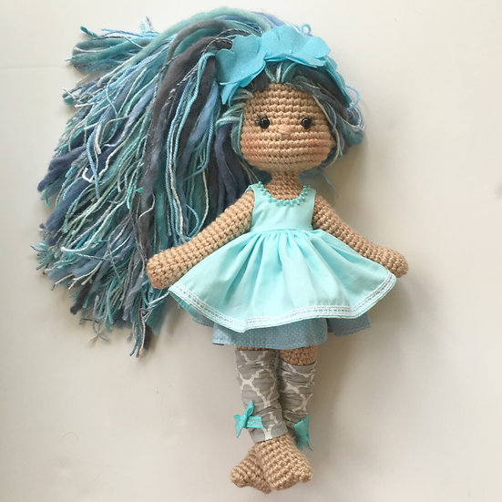 Turquoise flower baby