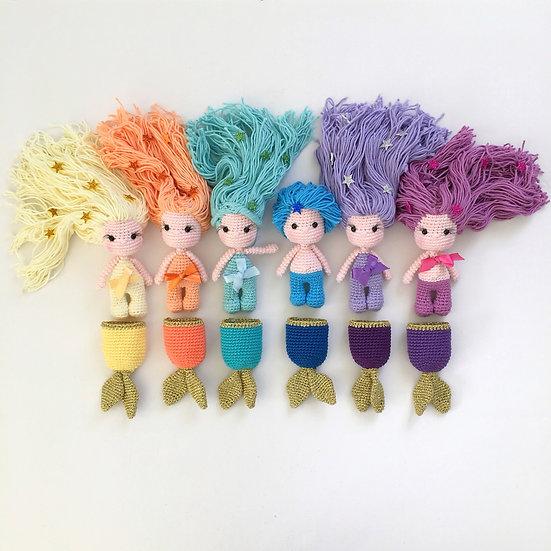 Rainbow baby mermaid set