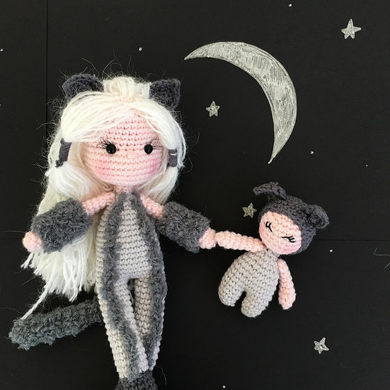 Luna and Nana superhero pattern
