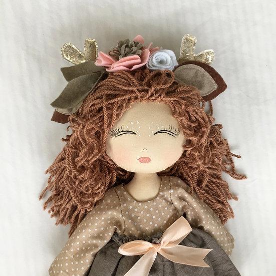 linen deer doll