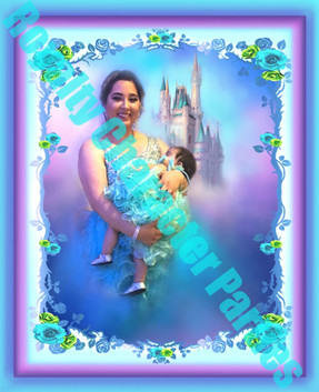 Marissa & Baby   -Colorful Background w