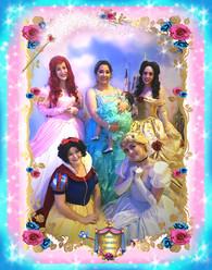 8x10 Ishana & Mom & Princesses   -Border
