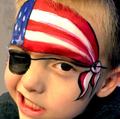 American Flag Pirate Mask