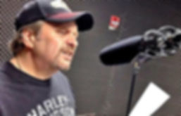 Tommy Zman recording radio spot