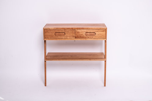 Leaning cherry wood sideboard