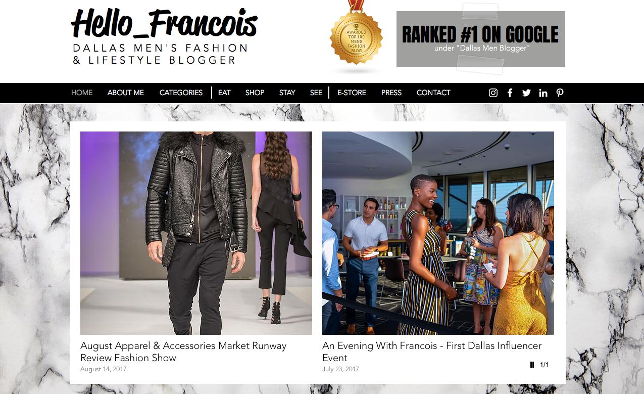 Website Screen Capture (After) - Hello_Francois | Dallas Men's Fashion & Lifestyle Blogger