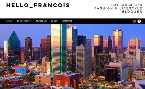 Website Screen Capture (Before) - Hello_Francois | Dallas Men's Fashion & Lifestyle Blogger