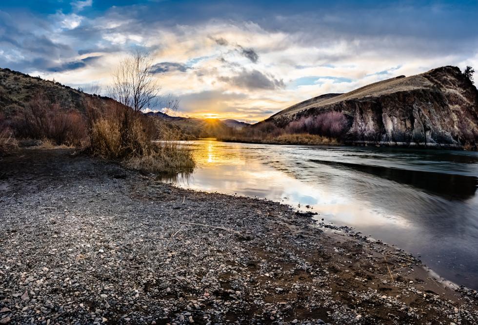 John Day River Sunset- Painted Hills Region