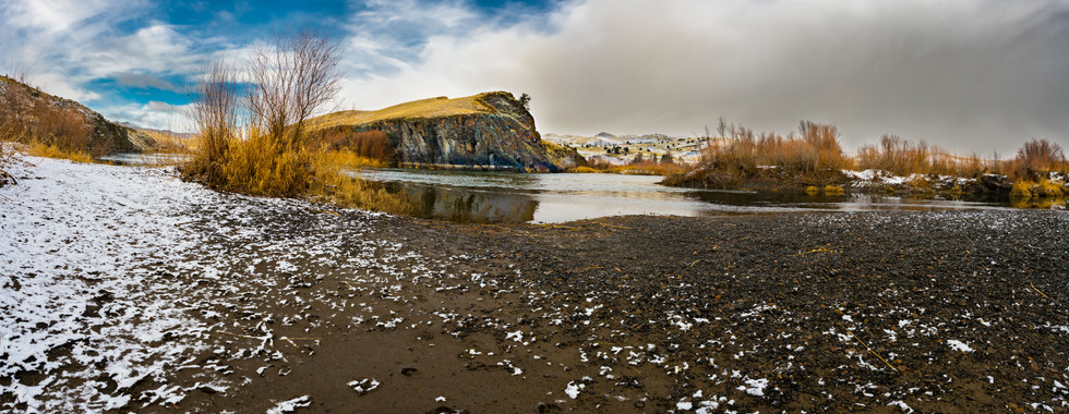 John Day River Winter Storm- Painted Hills Region