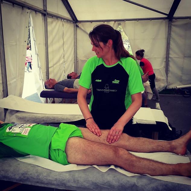 Marathon D'Annecy / Massage de Récupération en Compétition