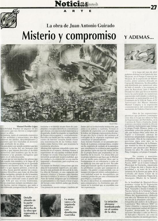 March 2001 Misterio y compromiso